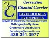Correction Chantal Carrier 3C