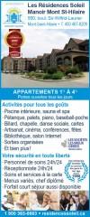 Les Résidences Soleil Manoir - Mont St-Hilaire