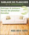 Sablage de plancher M.A. Desmarais
