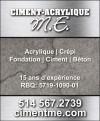 Ciment-Acrylique M.E.