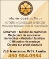 Marie-José Lafleur - Notaire et conseillère juridique