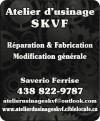 Atelier d'usinage SKVF