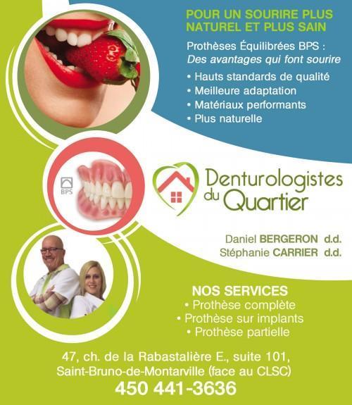 Denturologistes à Longueuil