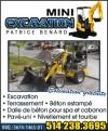 Mini Excavation Patrice Bénard