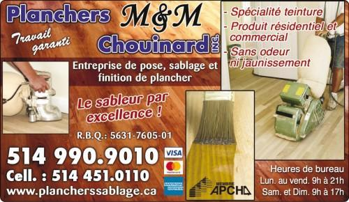 Pose  Sablage Finition de plancher