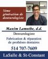 Maxim Lamothe Denturologiste