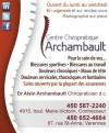 Centre chiropratique Archambault