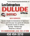 Ramko vitres d'autos Les Entreprises Dulude & Fils Inc.